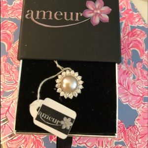 NWT Ameur Sterling Silver Mabe Pearl Ring.